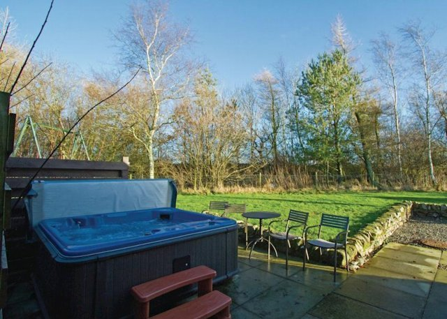 Outdoor Hot Tubs overlook the stunning scenery of South Scotland
